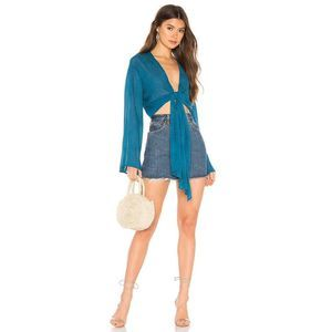 Young Fabulous & Broke Free Fall Front Tie Top